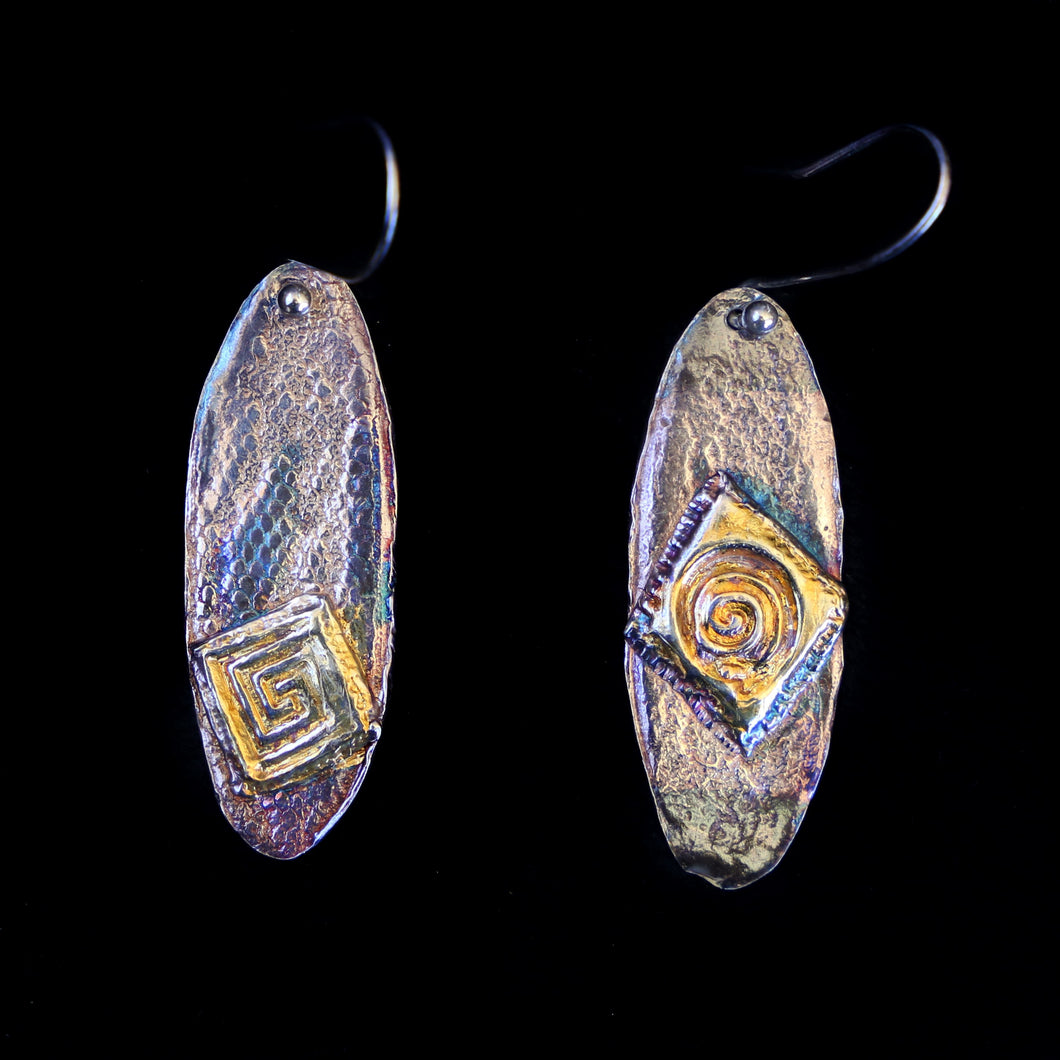 Earrings Snakeskin Background With Overlay Pattern