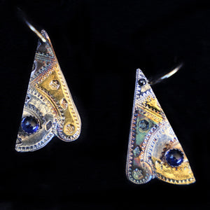 Earrings Indian style With Lab Sapphires