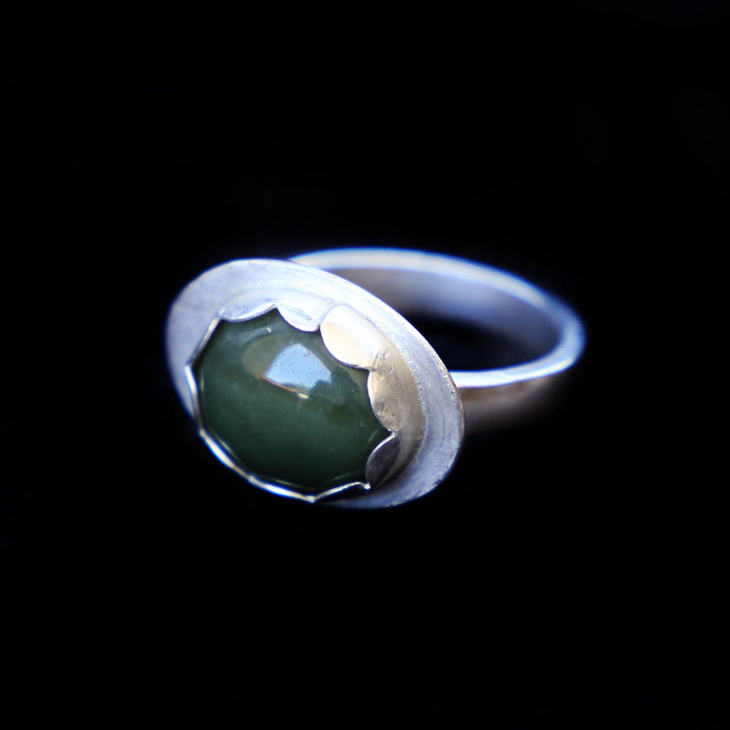 Deep Green Jade Ring