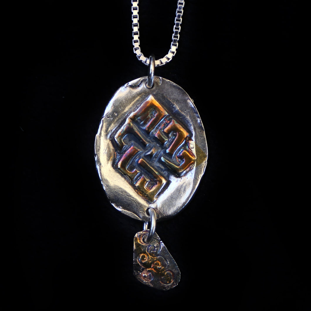 Celtic Knot Pendant With Silver Dangle