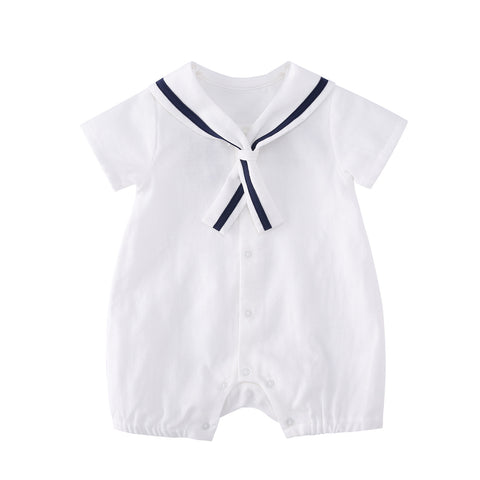 Pureborn Baby Boy Cotton Sailor Romper