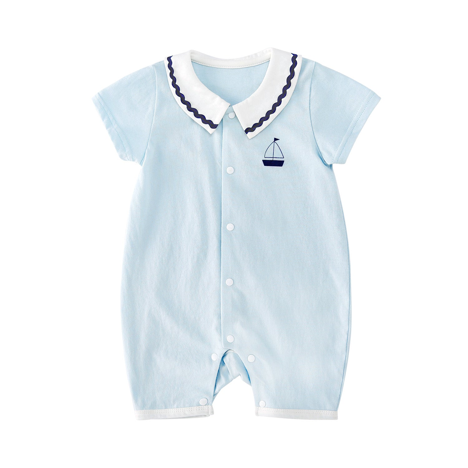 Pureborn Newborn Cotton Sailboat Romper