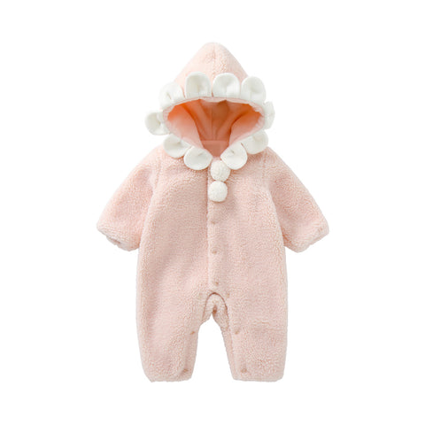 Pureborn Newborn Fleece Hooded Jumpsuit
