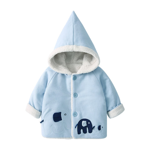 Pureborn Baby Cartoon Elephant Winter Jacket