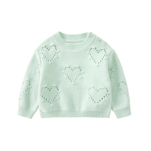 Pureborn Baby Knitted Heart Pullover, 3 colors
