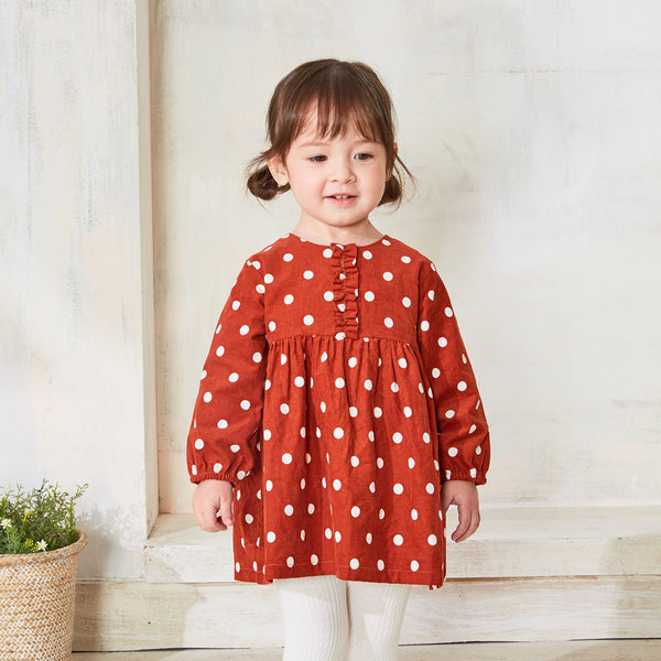 Pureborn Toddler Baby Girl Dotted Long Sleeve Dress