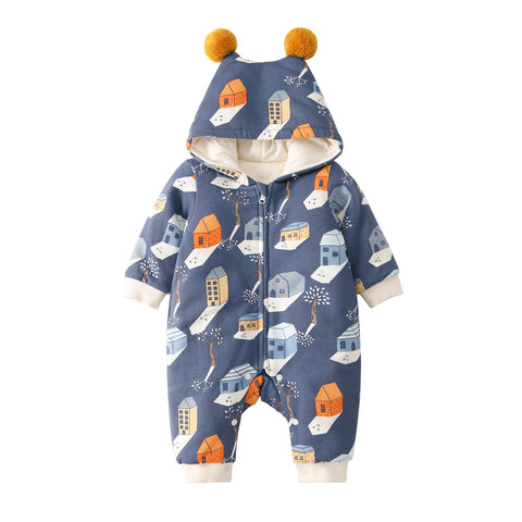 Pureborn Cartoon Prints Pramsuit