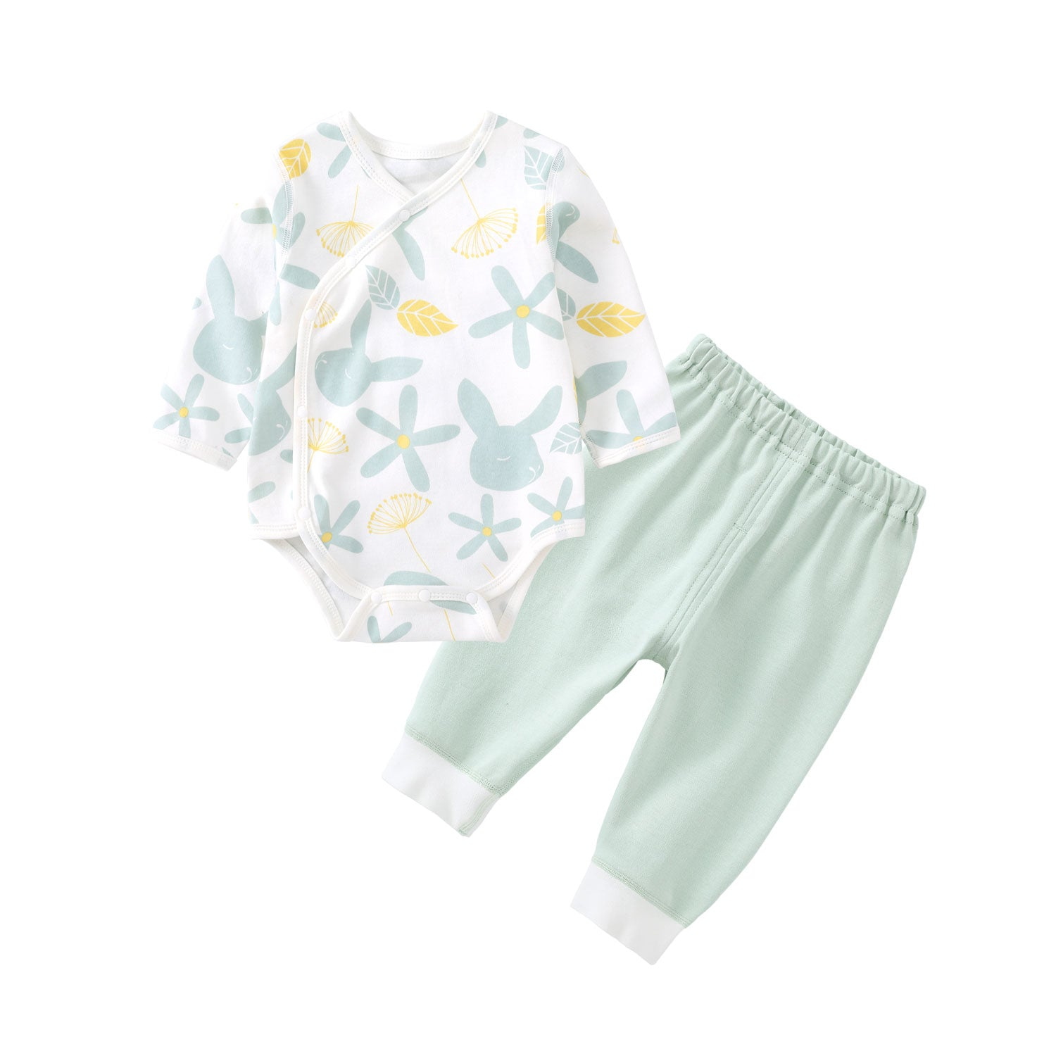 Pureborn 2 Pcs Colorful Print Clothing Set