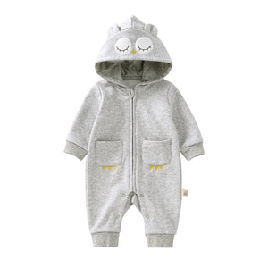 Pureborn Newborn Hooded Jumpsuit