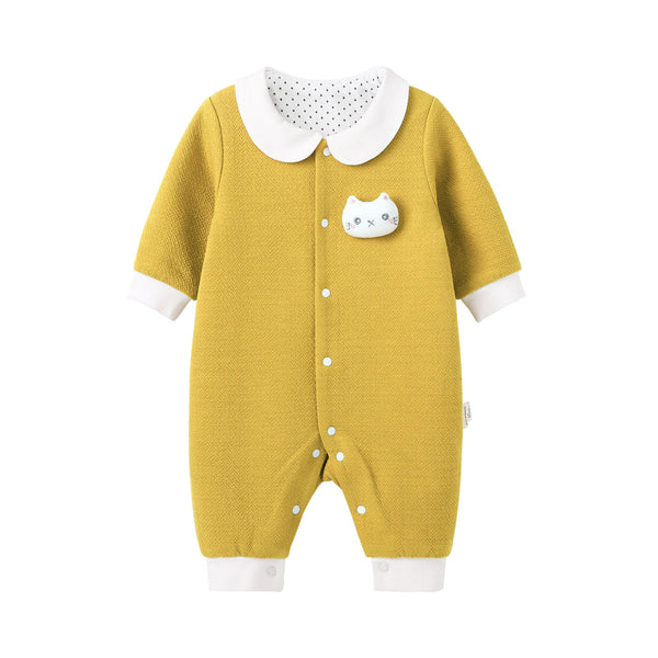 Pureborn Newborn Baby Cartoon Kitten Jumpsuit