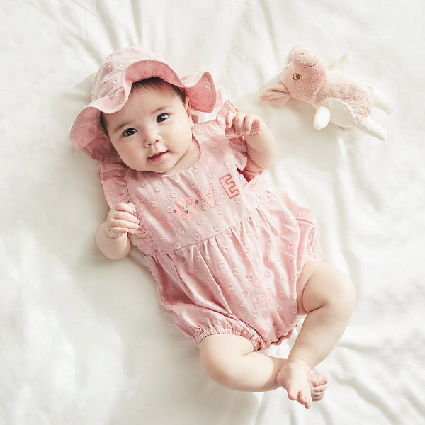 "Pureborn Baby Girl Bodysuit with ""Love"""