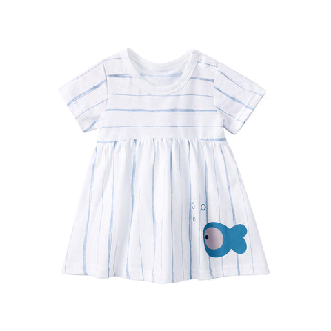 Pureborn Sailor Stripe Baby Dress