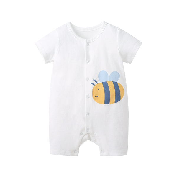 Pureborn 2 Pack Cartoon Bees Baby Rompers