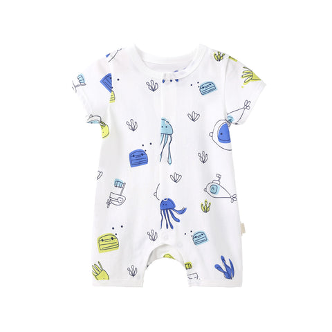 Pureborn Prints Cotton Baby Romper
