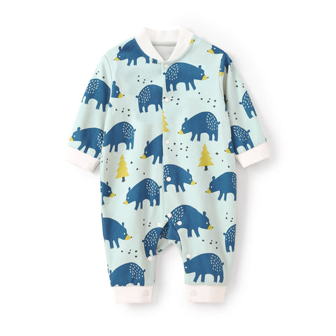 Pureborn Printed Baby Jumpsuit