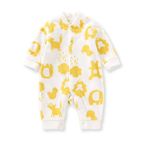 Pureborn Newborn Fleece Baby Jumpsuit