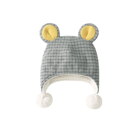 Pureborn Fleece Lined Baby Hat with Pompoms