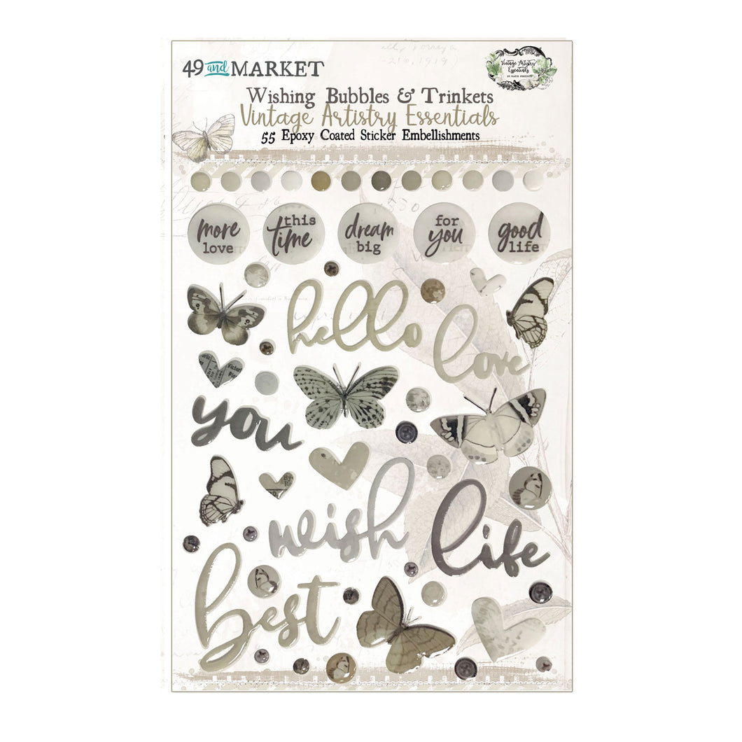 Vintage Artistry Essentials Wishing Bubbles & Trinkets