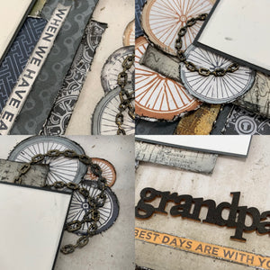 Grandpa scrapbook page kit