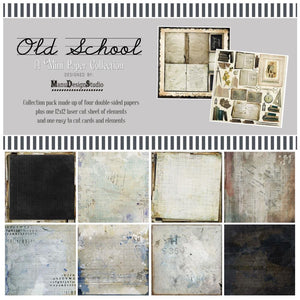 School Days scrapbook page kit with 2 Bonus Layouts