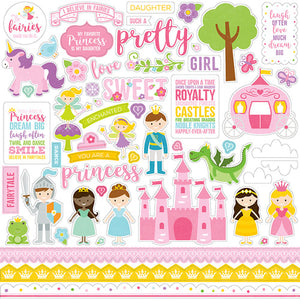 Pretty Princess scrapbook page kit