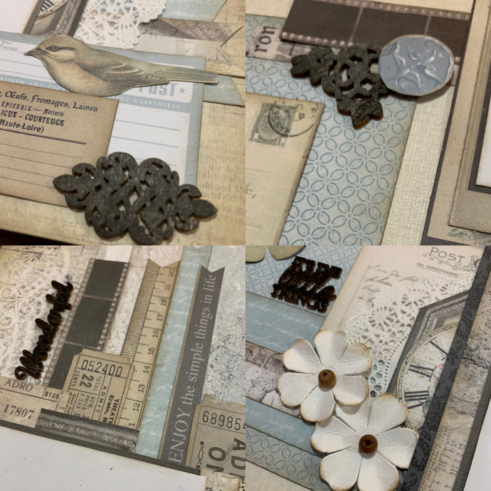 Wonderful - It's the Little Things scrapbook page kit
