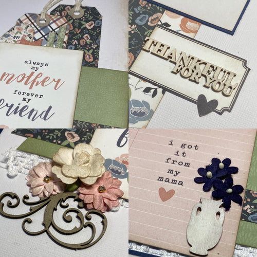 My Mother scrapbook page kit