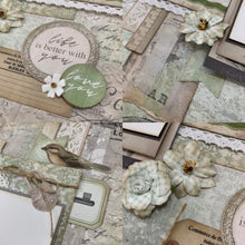 Load image into Gallery viewer, This is the Beginning of Something Amazing scrapbook page kit