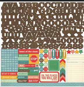 Authentic scrapbook page kit