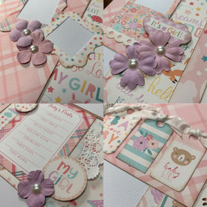 Baby Girl scrapbook page kit