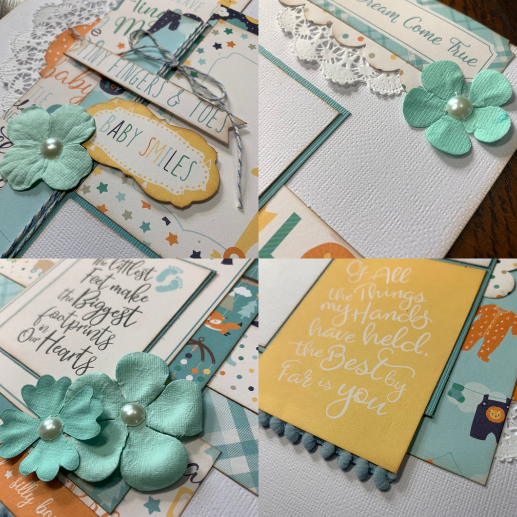 Baby Boy scrapbook page kit