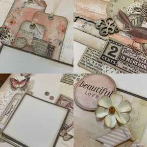 Remember the Happy scrapbook page kit