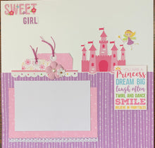 Load image into Gallery viewer, Pretty Princess scrapbook page kit