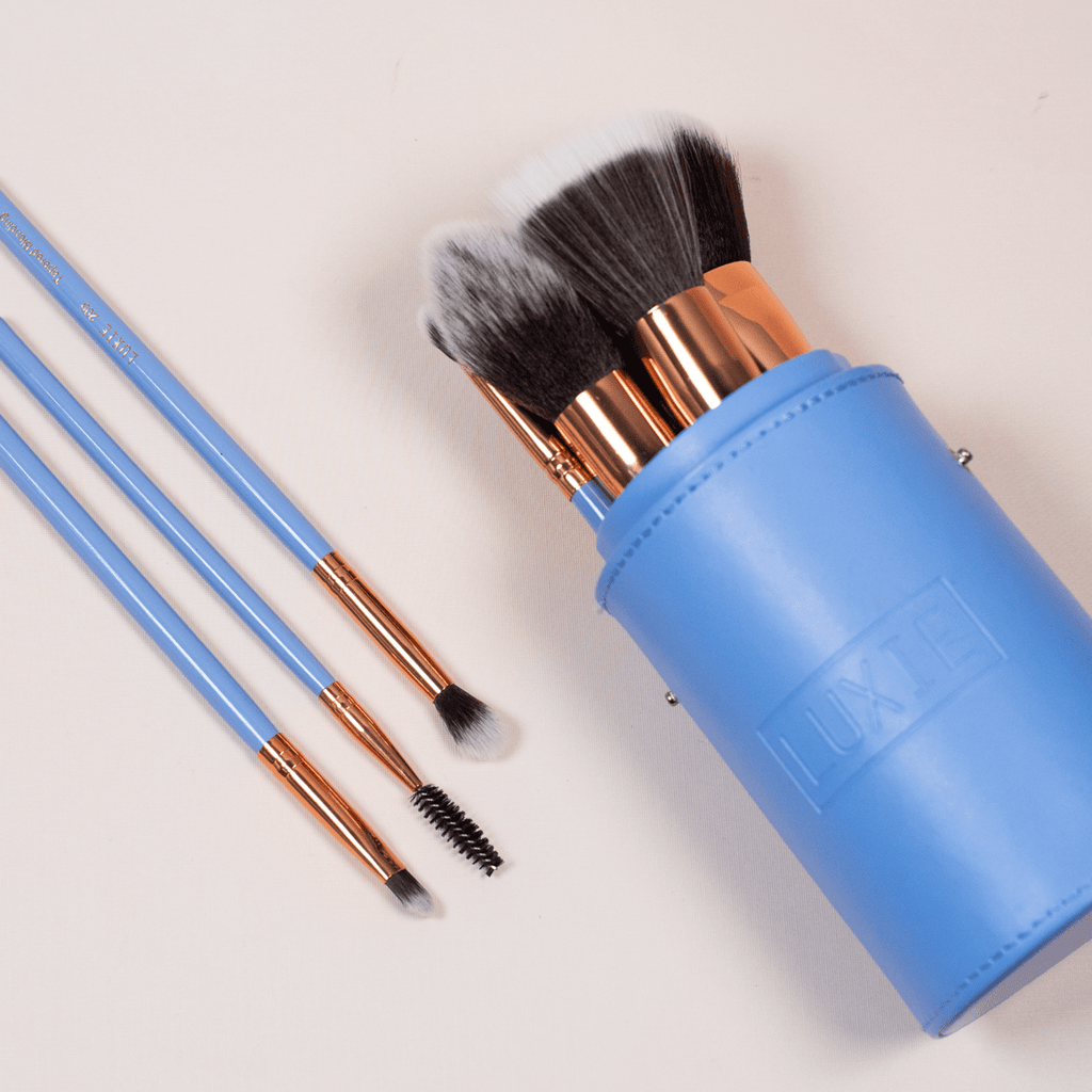 Brush Sets with Makeup Brush Cup by LUXIE Beauty