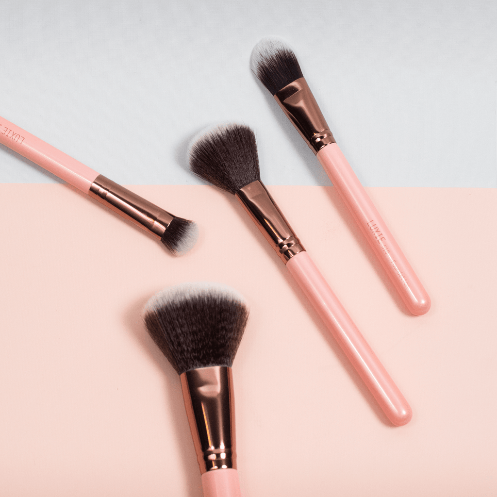 Rose Gold Makeup Brushes by LUXIE Beauty