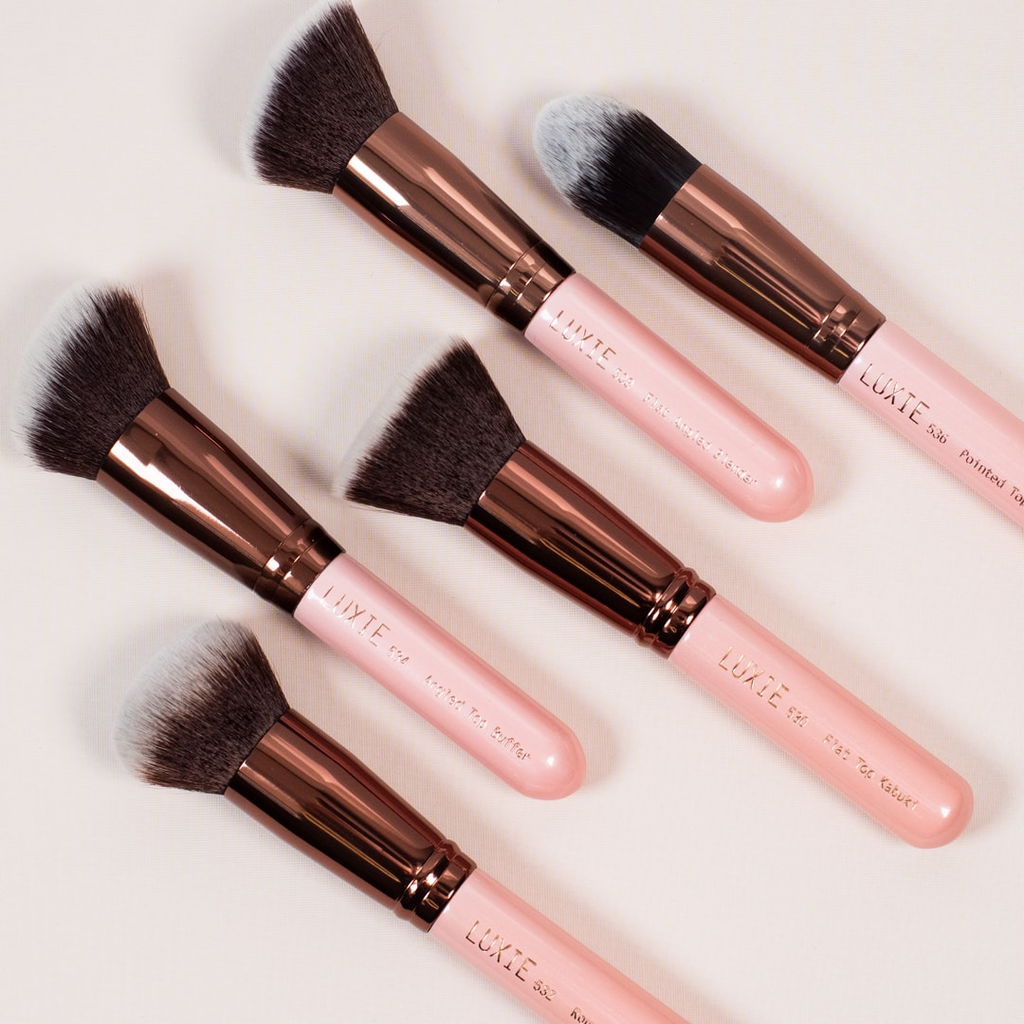 Face Brushes in Rose Gold, by LUXIE Beauty
