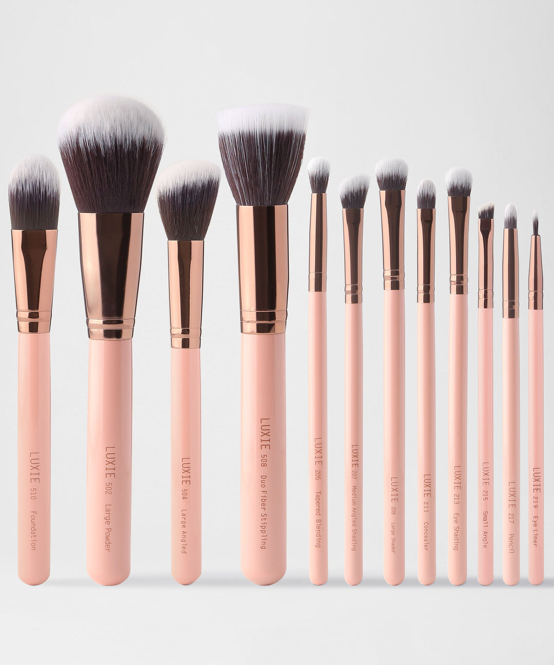 LUXIE Signature Rose Gold Brush Set