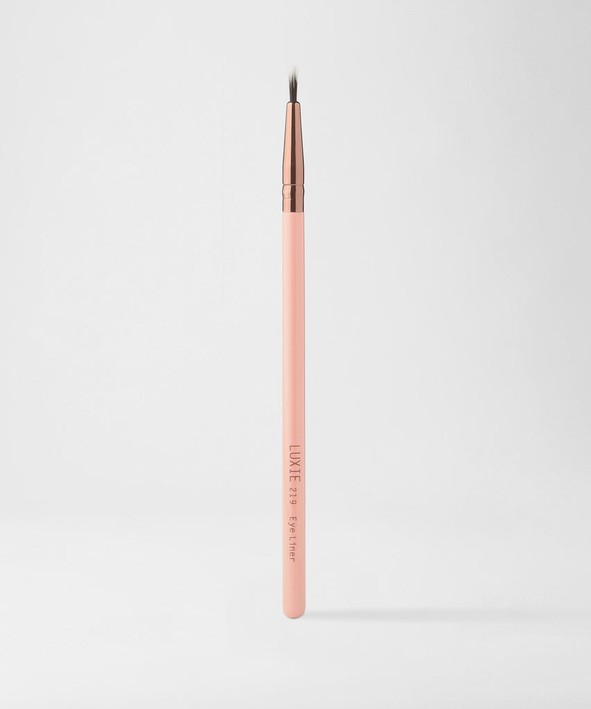 LUXIE 219 Eye Liner Brush - Rose Gold - luxiebeauty
