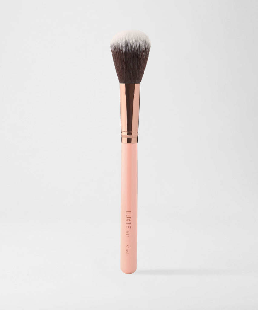 LUXIE 514 Blush Brush - Rose Gold - luxiebeauty