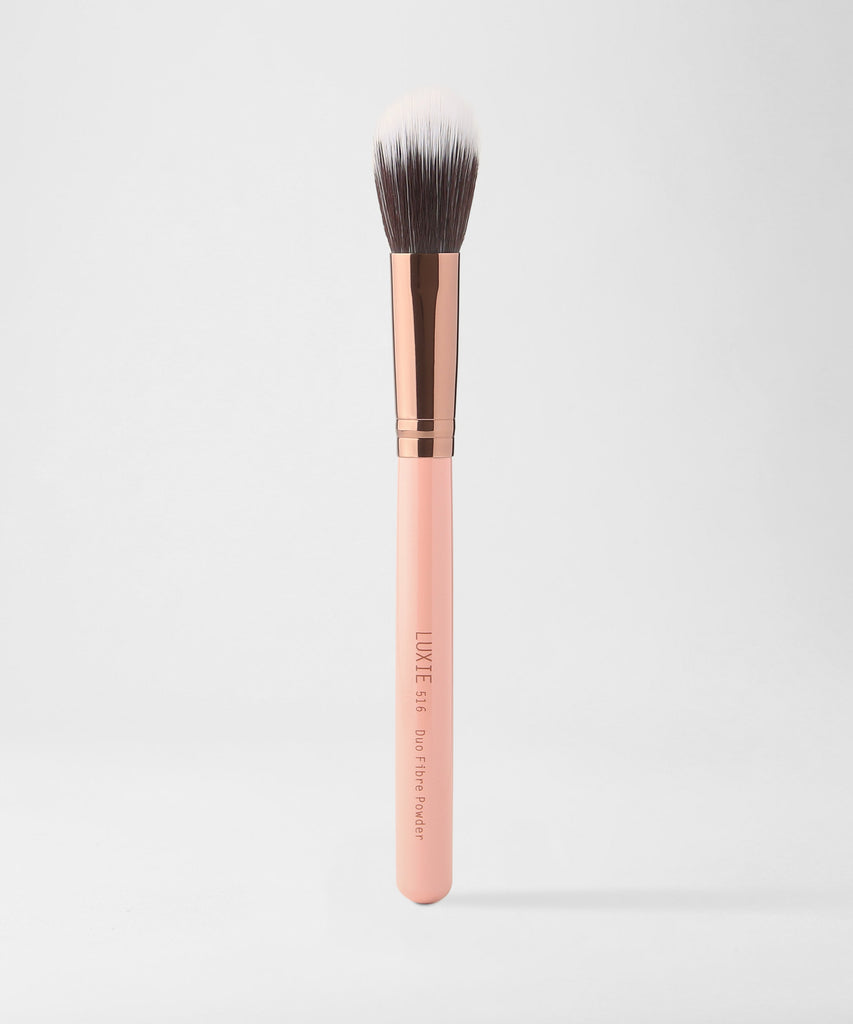 LUXIE 516 Duo Fibre Powder Brush - Rose Gold - luxiebeauty