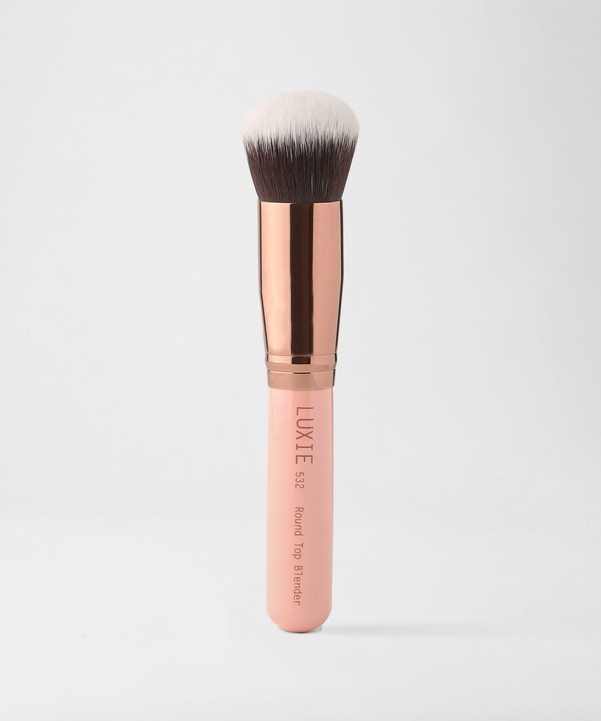 LUXIE 532 Round Top Kabuki Brush - Rose Gold - luxiebeauty
