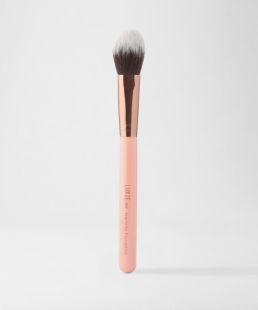 LUXIE 660 Foundation Brush - Rose Gold - luxiebeauty
