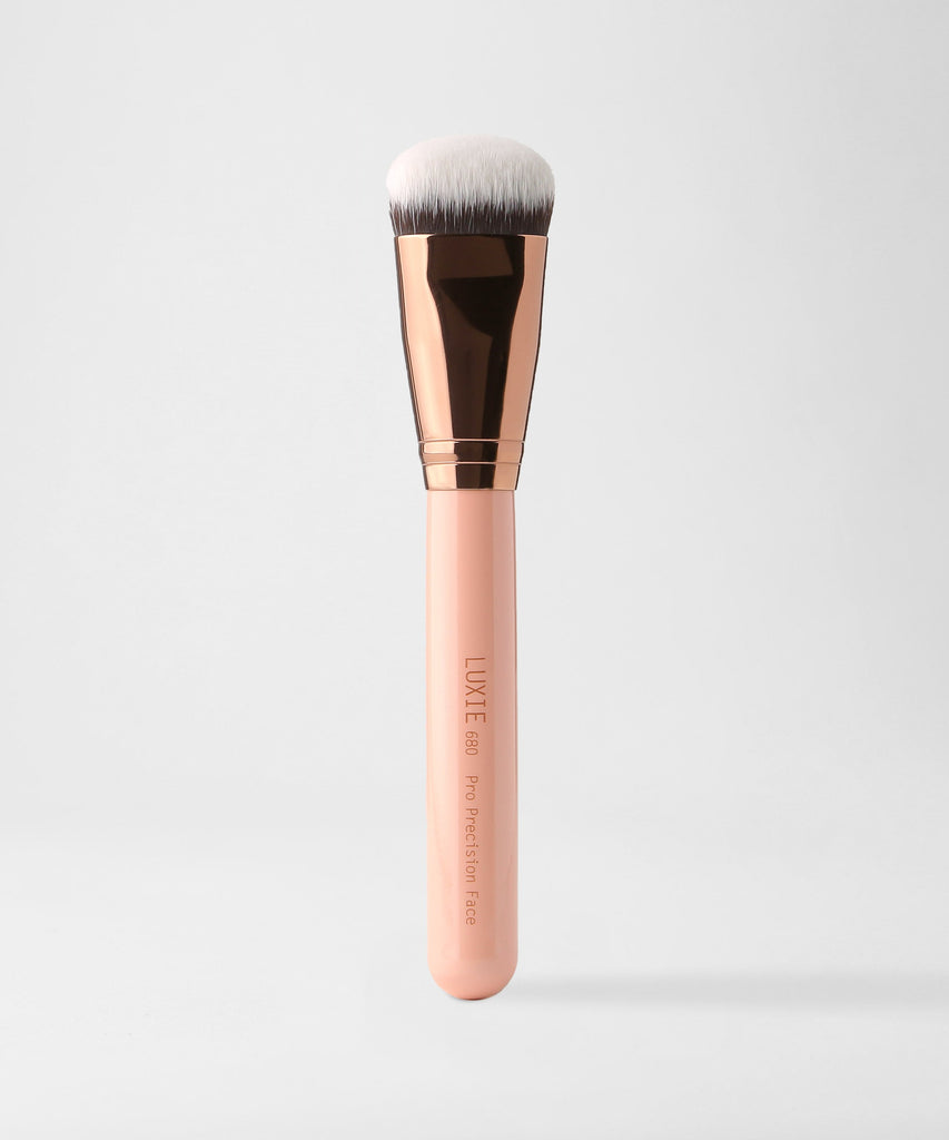 LUXIE 680 Pro Precision Face Brush - Rose Gold - luxiebeauty