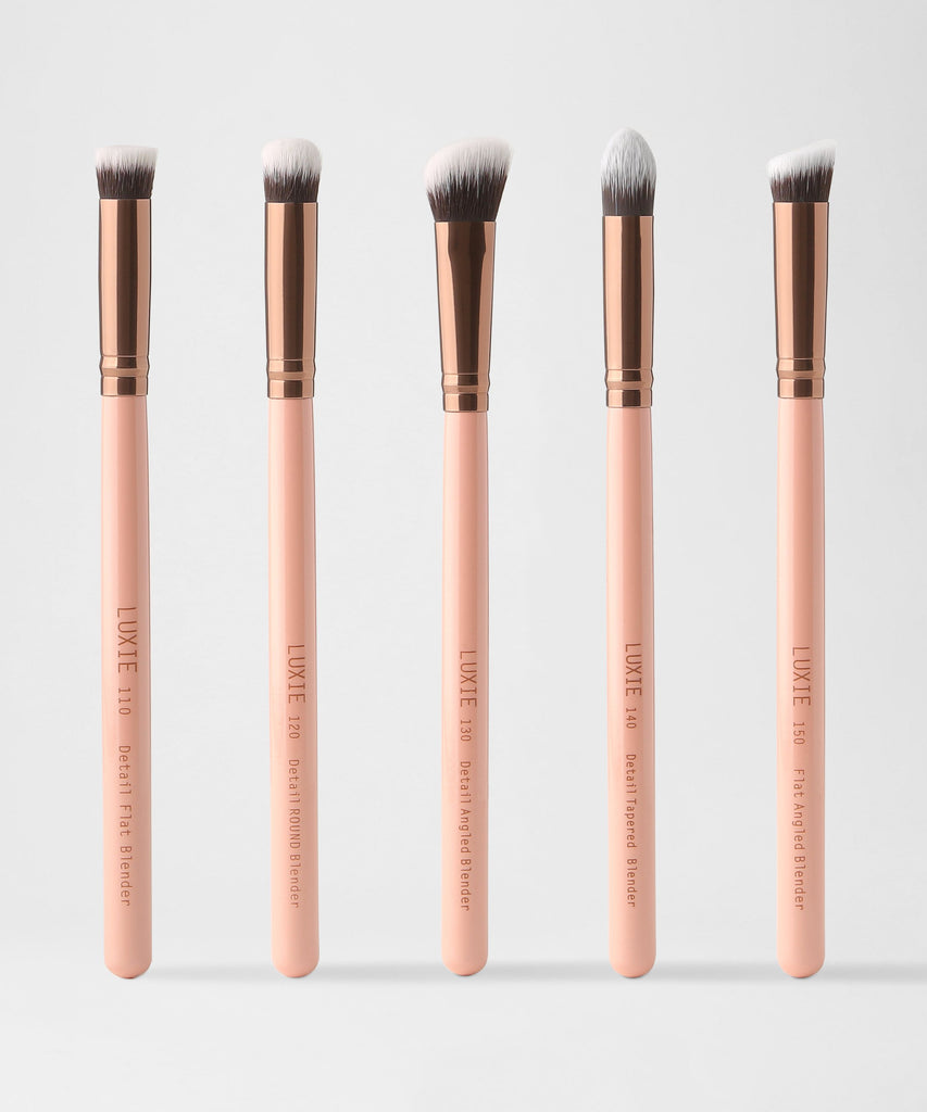 LUXIE Detail Face Brush Set Rose Gold