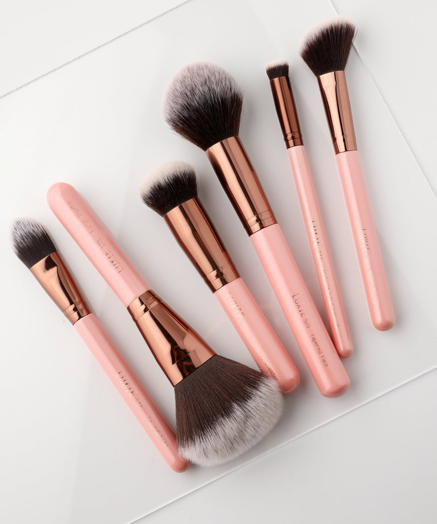 LUXIE Face Essential Brush Set Rose Gold