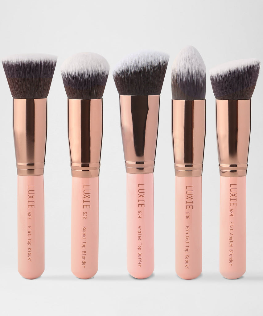 LUXIE Kabuki Brush Set Rose Gold