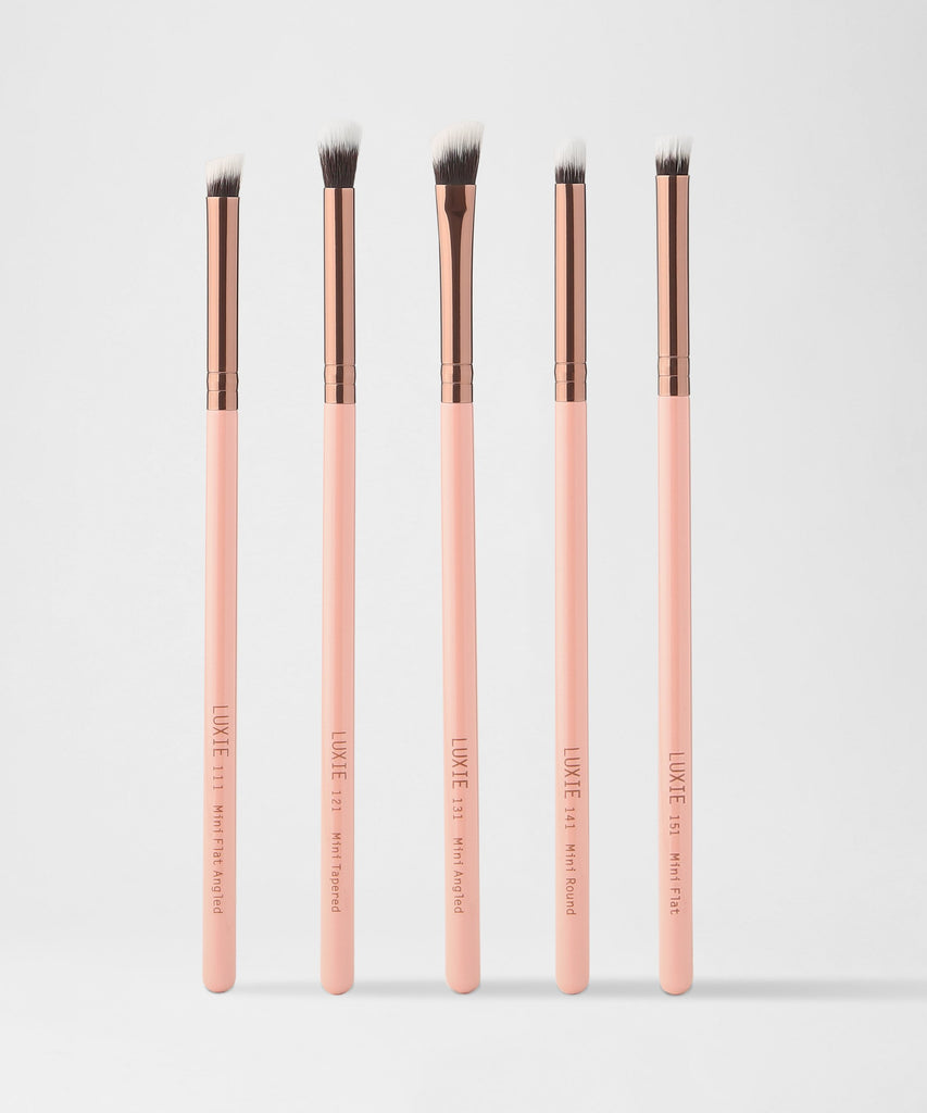 LUXIE Mini Detail Eye Brush Set Rose Gold