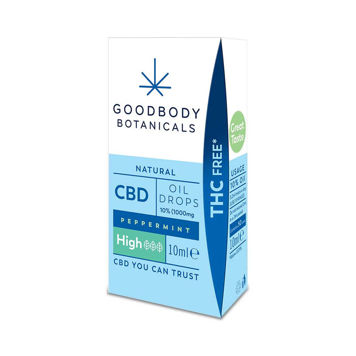 Goodbody Botanicals - High CBD Oil Drops 10% (1000mg) Peppermint 10ml