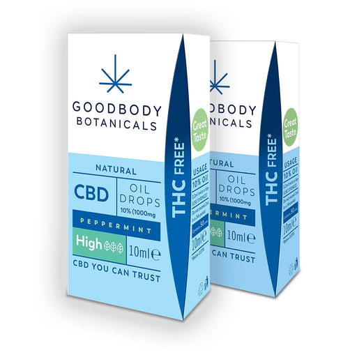 Goodbody Botanicals - CBD Oil Drops HIGH Bundle - 2 x 10% Peppermint