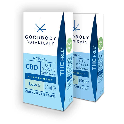 CBD Oil Drops LOW Bundle - 2 x 2.5% Peppermint